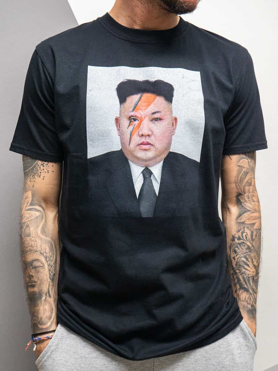 BAD MONDAY T-shirt in cotone stampa KIM JONG-UN
