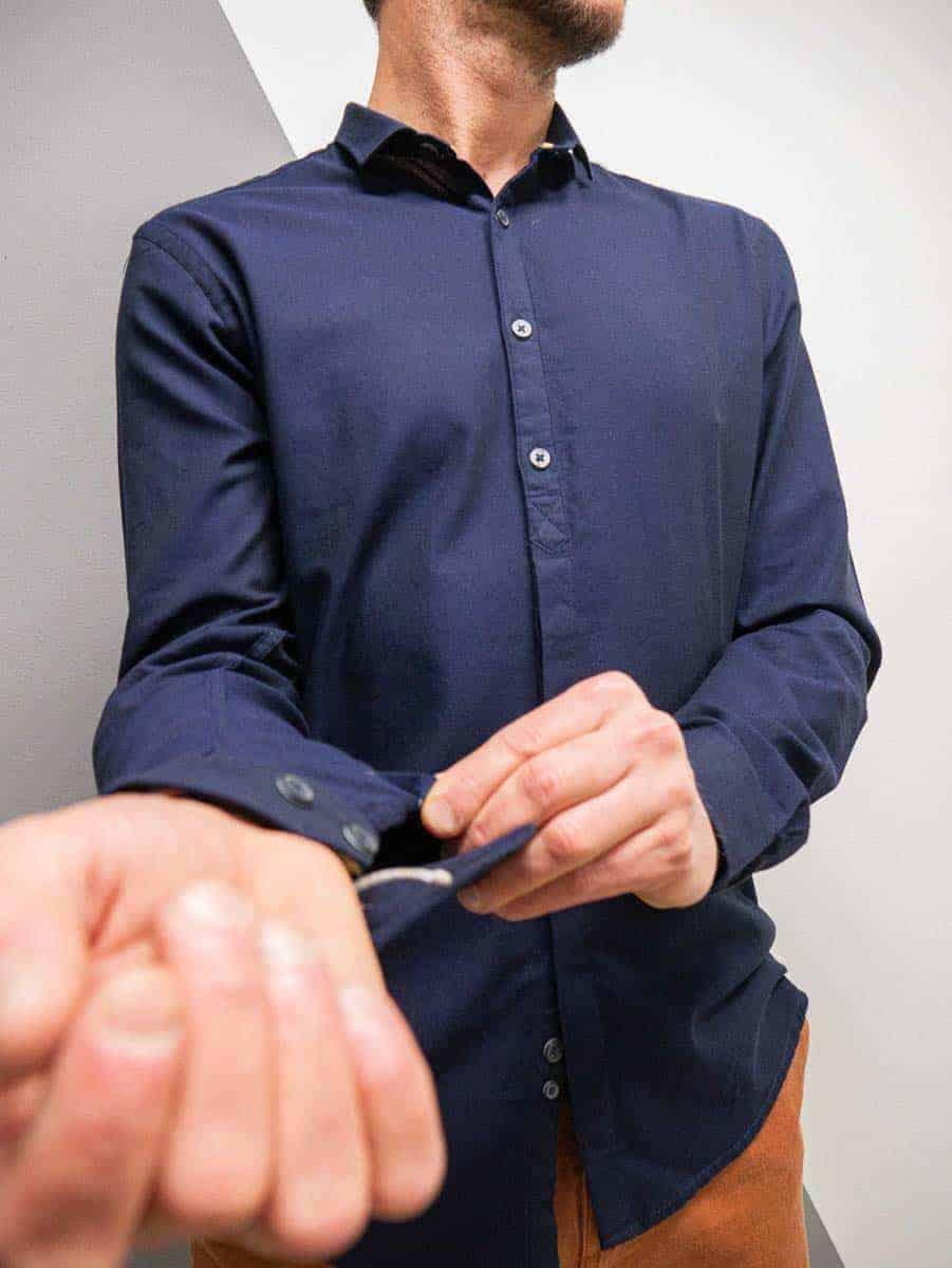 BL11 Camicia tinta unita con colletto 2011857 OXFORD