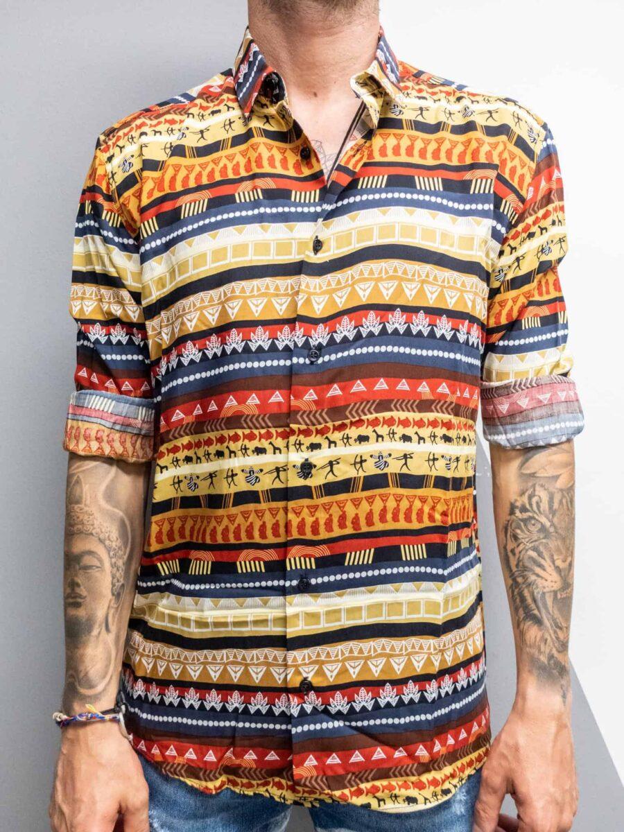 BLACK SUNDAY Camicia in viscosa stampa bandana BELEN