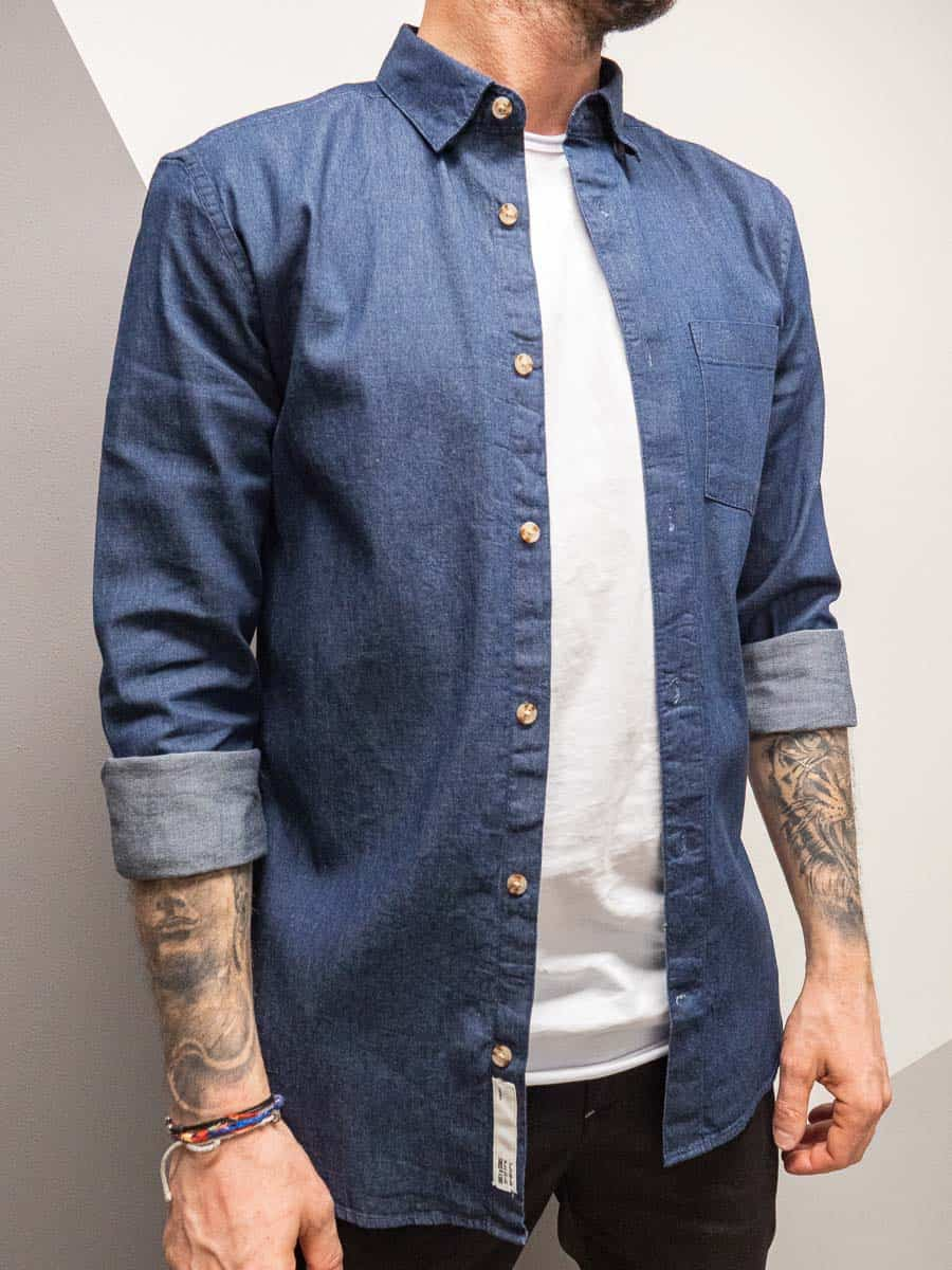 ONLY&SONS Camicia di jeans con tasca frontali TROY 8773
