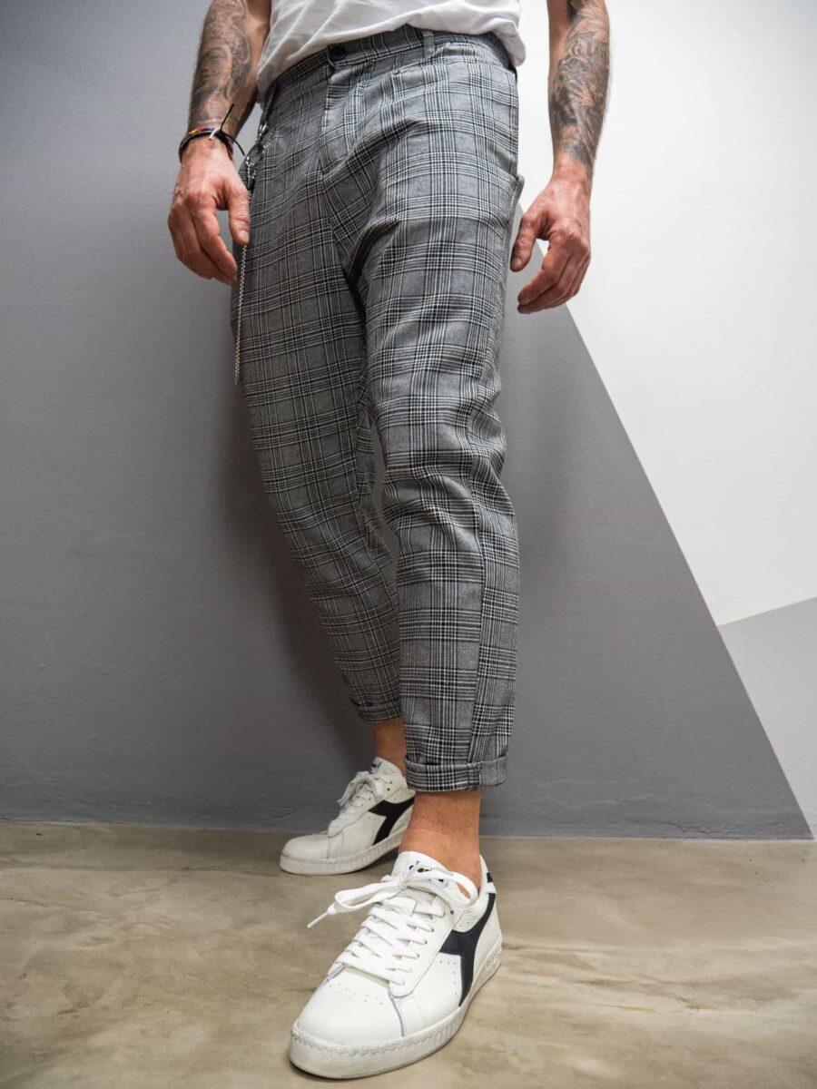 IMPERIAL Pantalone a quadri con cavallo morbido e catenella laterale PB51ZNM
