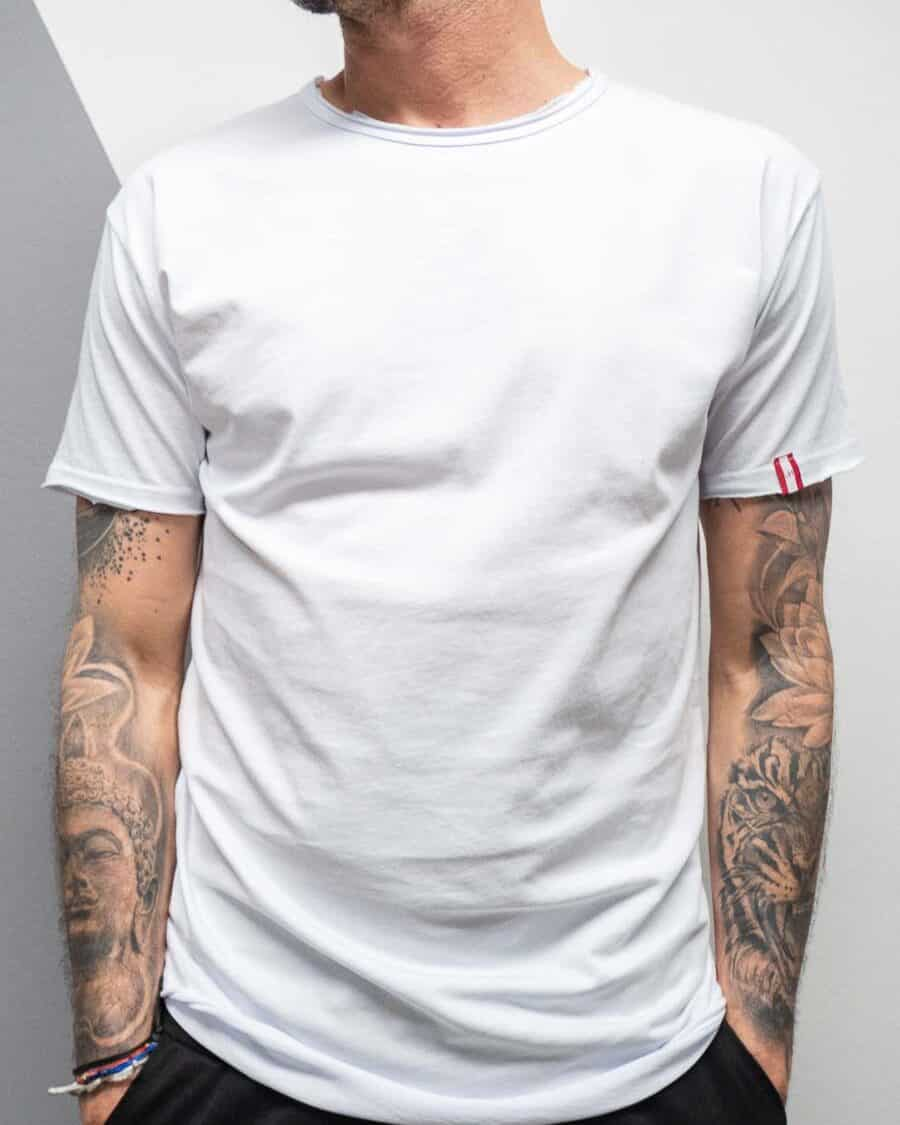 BL11 T SHIRT MOD. BASIC 2 COL. BIANCO 1 Best Seller