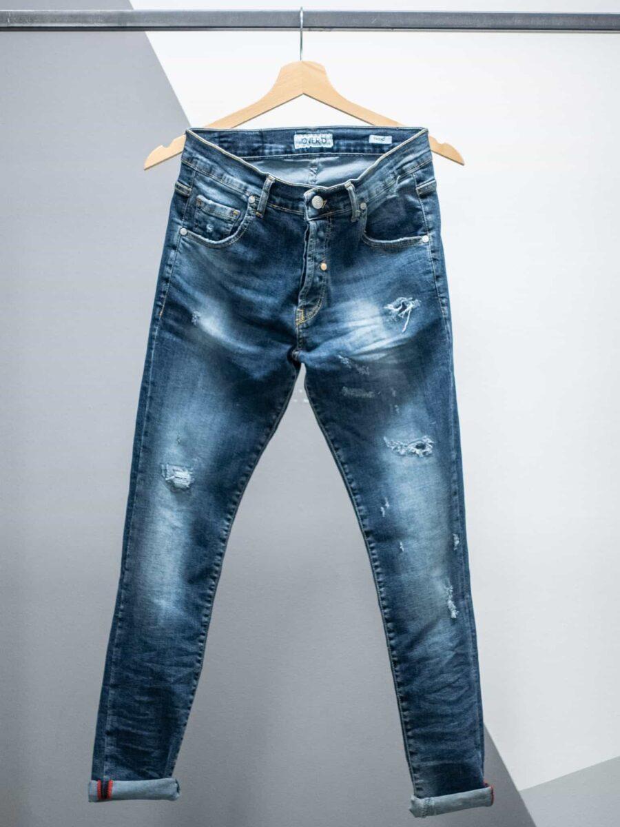 OVER-D Jeans super slim con piccole rotture OM264JN