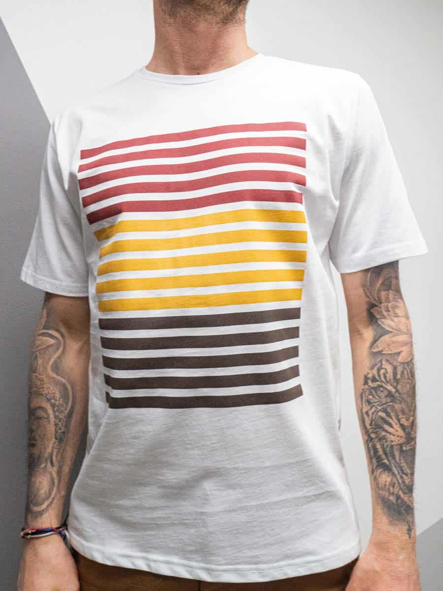OVER-D T-shirt girocollo con stampa frontale OM801TS