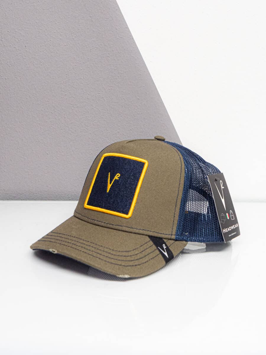 V2 Cappellino con patch stampa JEANS 34