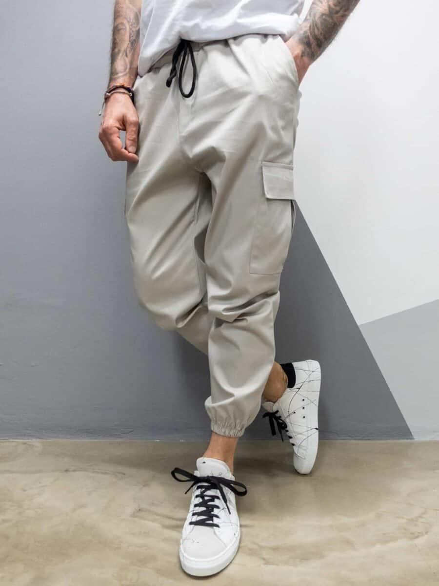 ANGERWEAR Pantalone cargo leggero rigato 21802