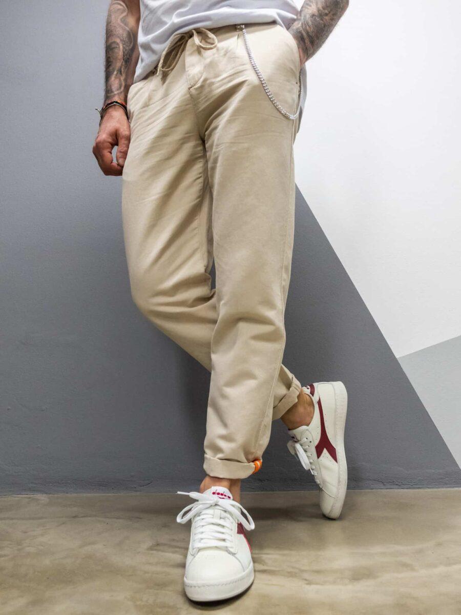 BL11 Pantalone misto lino con coulisse in vita HEAT