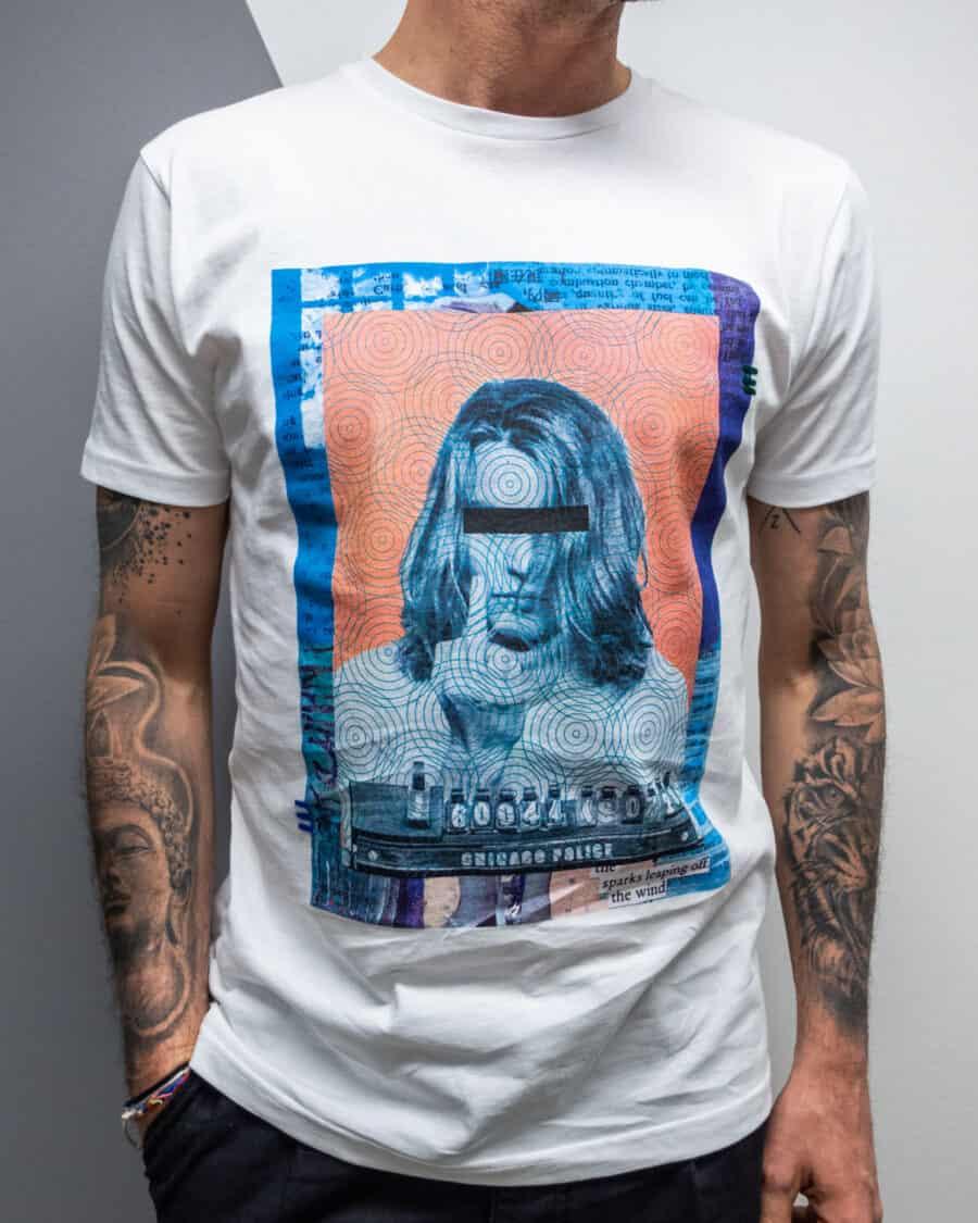 FORWARD MILANO T shirt in cotone con stampa Johnny Depp X16538 bianco 1 Home