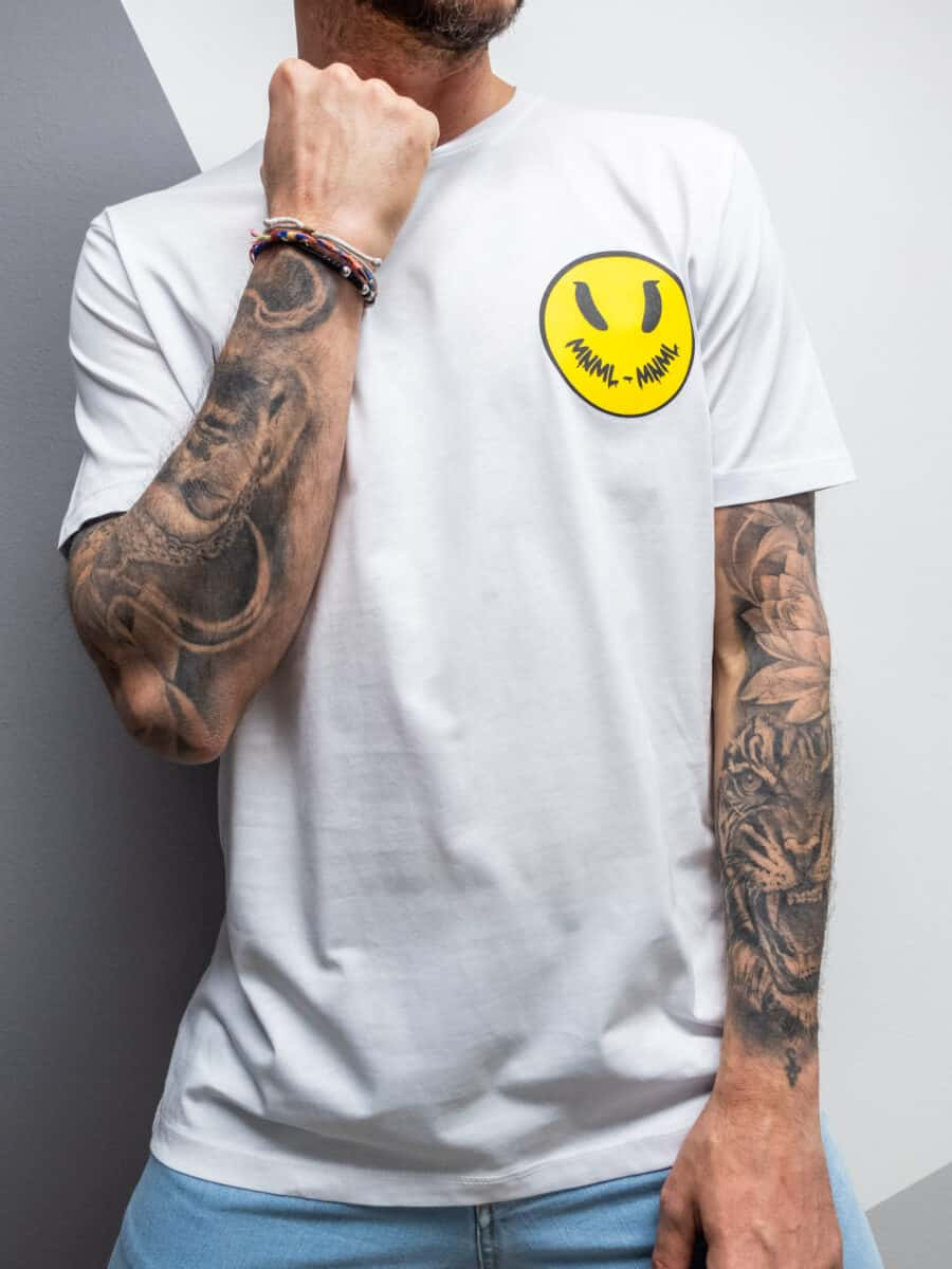 MINIMAL COUTURE T-shirt con stampa smile frontale MN141