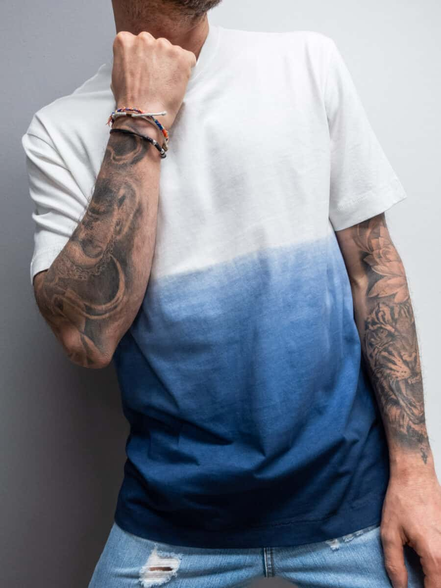 ONLY & SONS T-shirt in cotone con stampa bicolore TYSON 9654