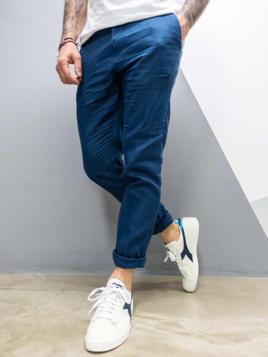 OVER-D Pantalone leggero in lino da abito OM539PN