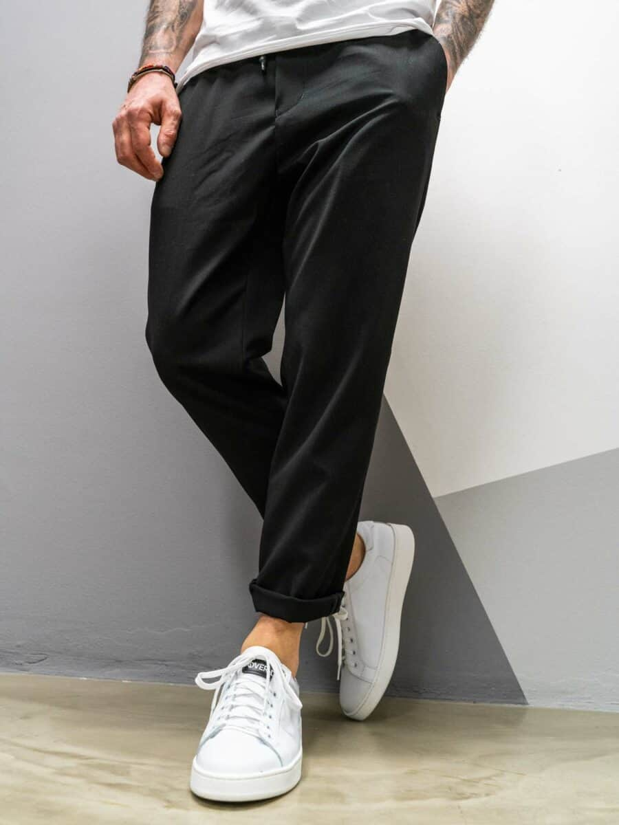 OVER-D Pantalone morbido con coulisse OM598PN