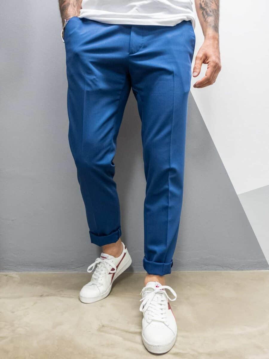 ALEANDRO LA CORTE Pantalone slim fit elegante da abito MILK P