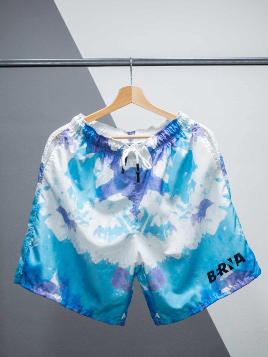 BERNA Costume tie dye con logo e tasche laterali 210237