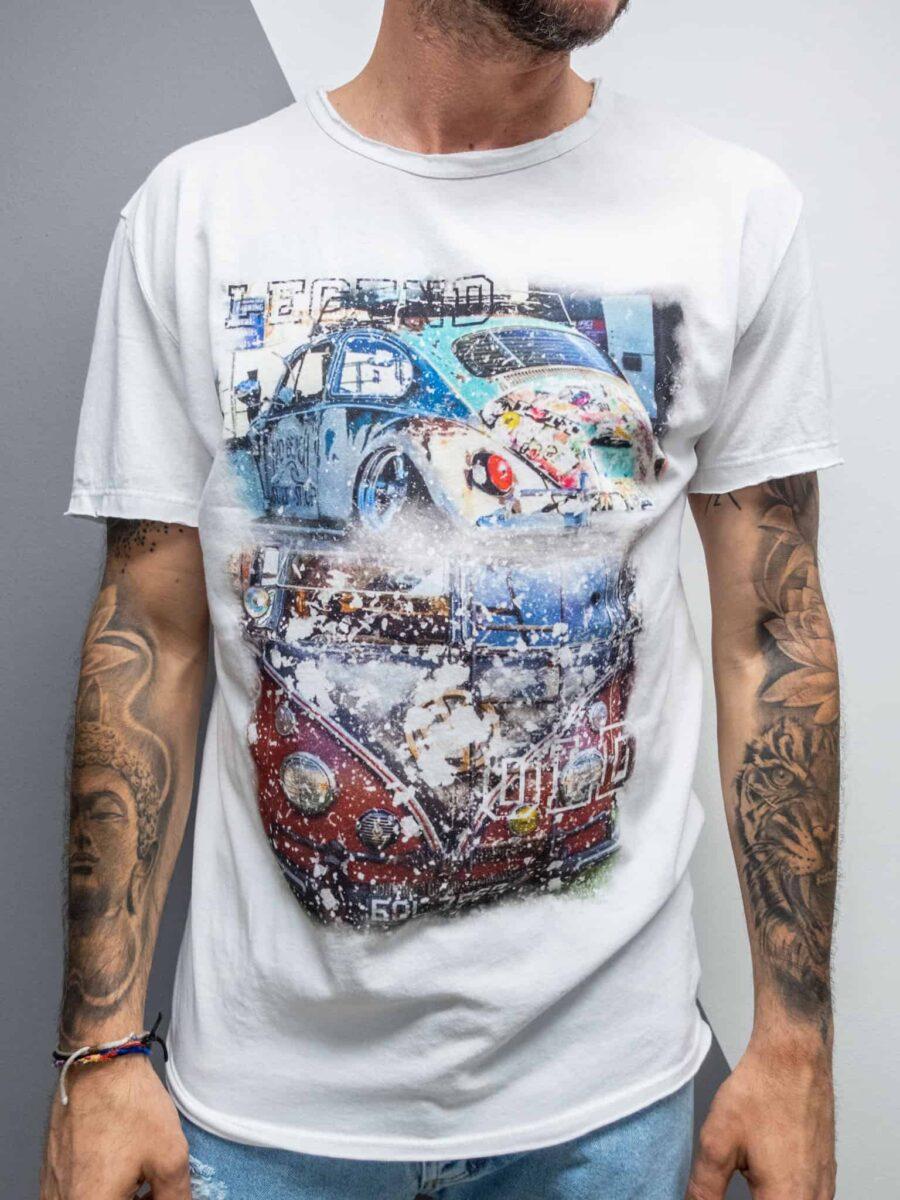 ESTASI T-shirt in cotone con stampa VOLKSWAGEN