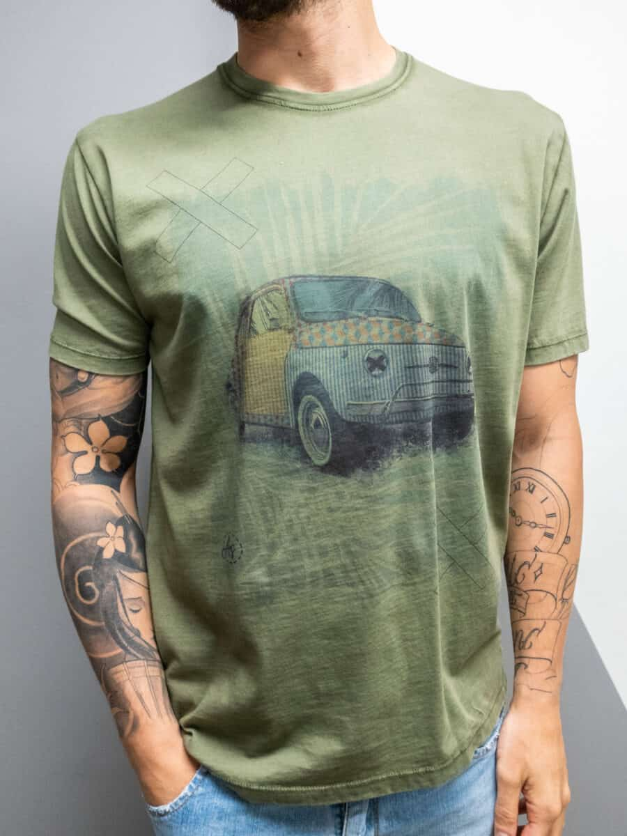 OVER-D T-shirt con stampa 500 OM820TS