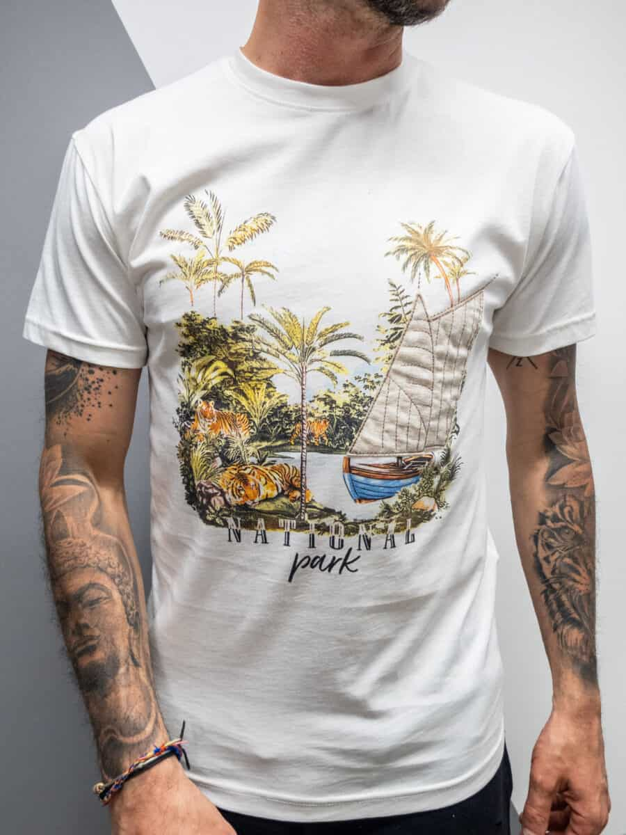 OVER-D T-shirt con stampa national park OM780TS