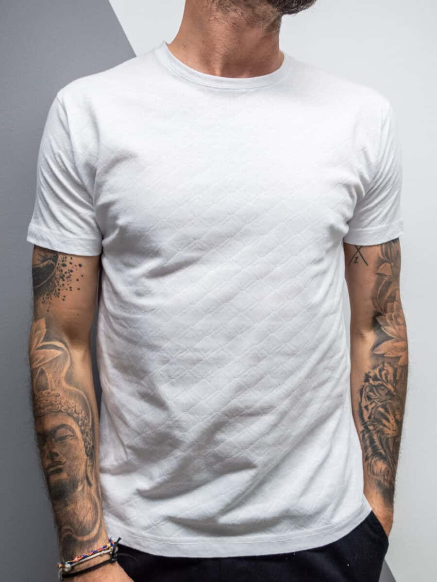 OVER-D T-shirt in lino lavorata OM803TS