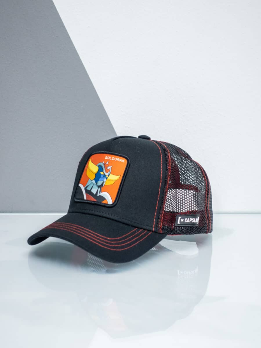 CAPSLAB Cappellino con patch stampa ufo robot GOLDRAKE 1