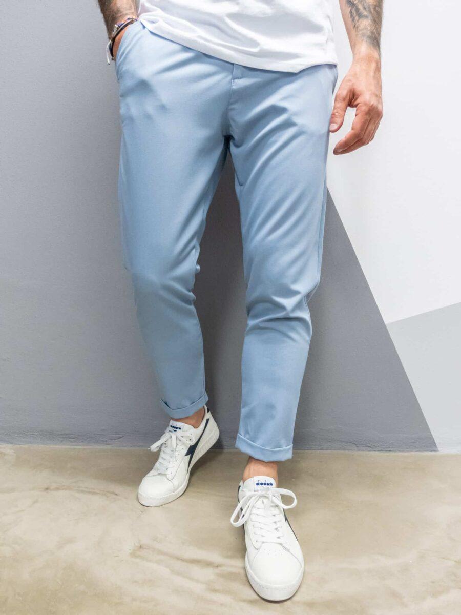 IMPERIAL Pantalone azzurro morbido da abito PWB0BBF