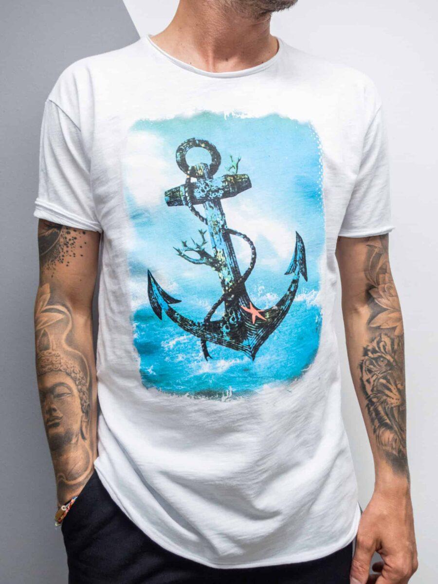 FORWARD MILANO T-Shirt con stampa ANCORA 615