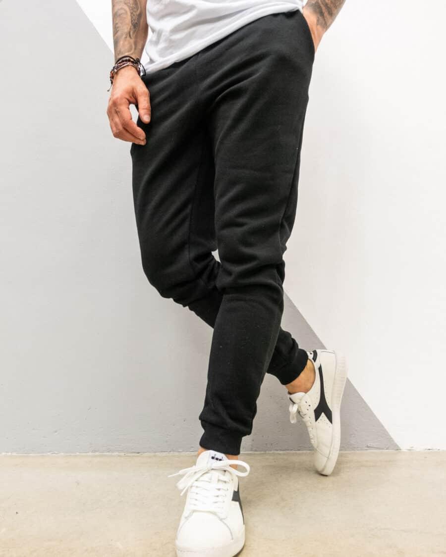 ONLYSONS Pantalone tuta felpato con polsini CERES 22018686 nero 1 Best Seller