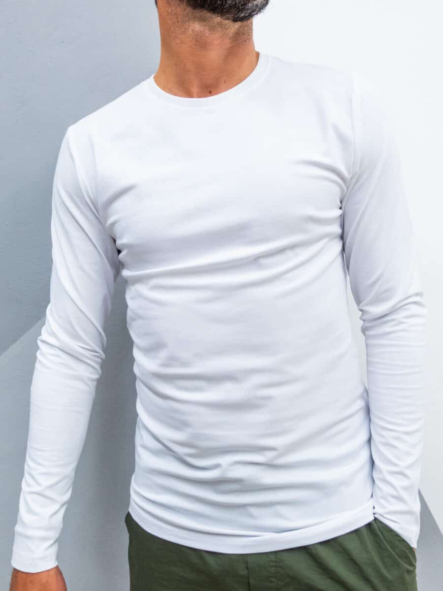 ONLY&SONS T-shirt in cotone a maniche lunghe BASIC SLIM 22010404