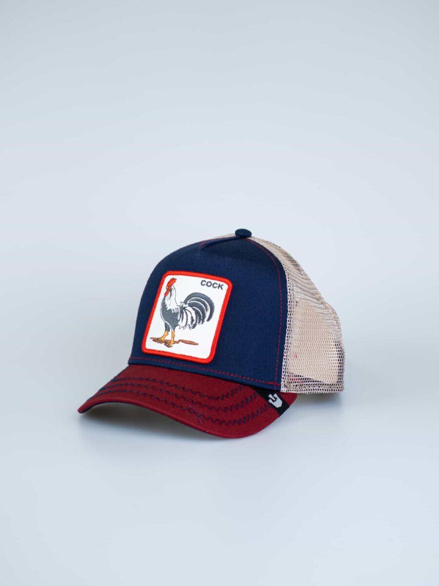 GOORIN BROS Cappellino con patch stampa gallo COCK 2