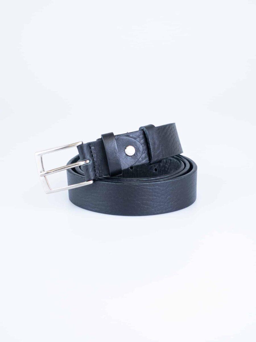 IMPERIAL Cintura nera in pelle stampa rettile WCN55