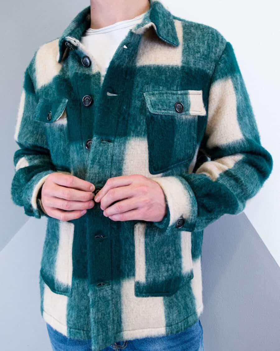 IMPERIAL Giacchetta misto lana a quadri con tasche K769CAA 1 Nuovi Arrivi