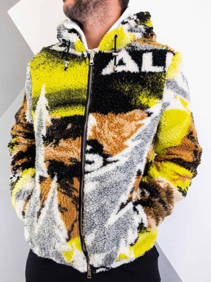 IMPERIAL Giubbino orsacchiotto stampa tie dye con cappuccio e tasche U3025437